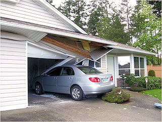 Vehicle Damage to House